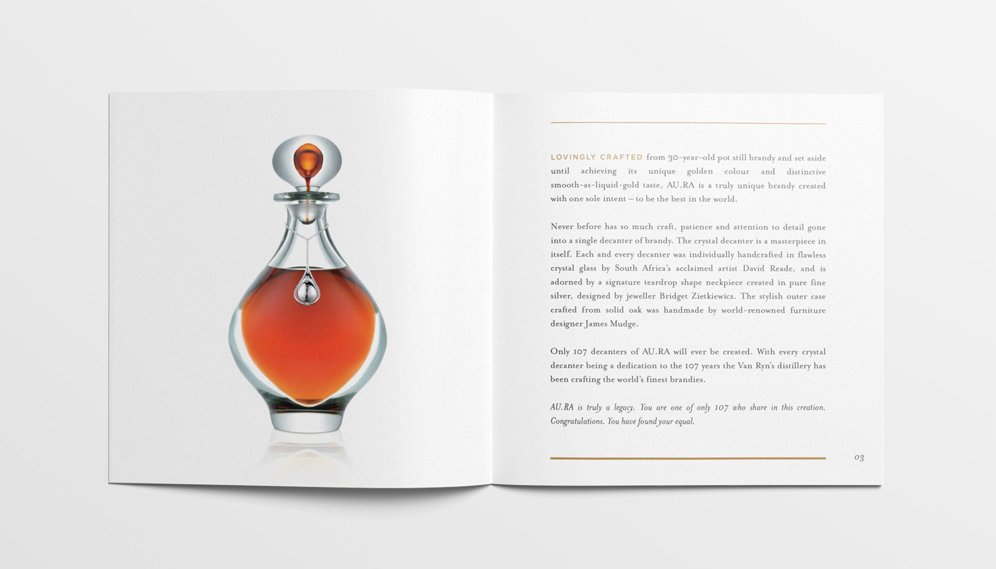 Aura Booklet Decanter Page