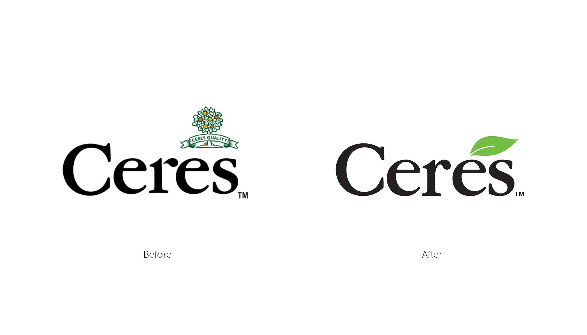 Ceres Logo before and after