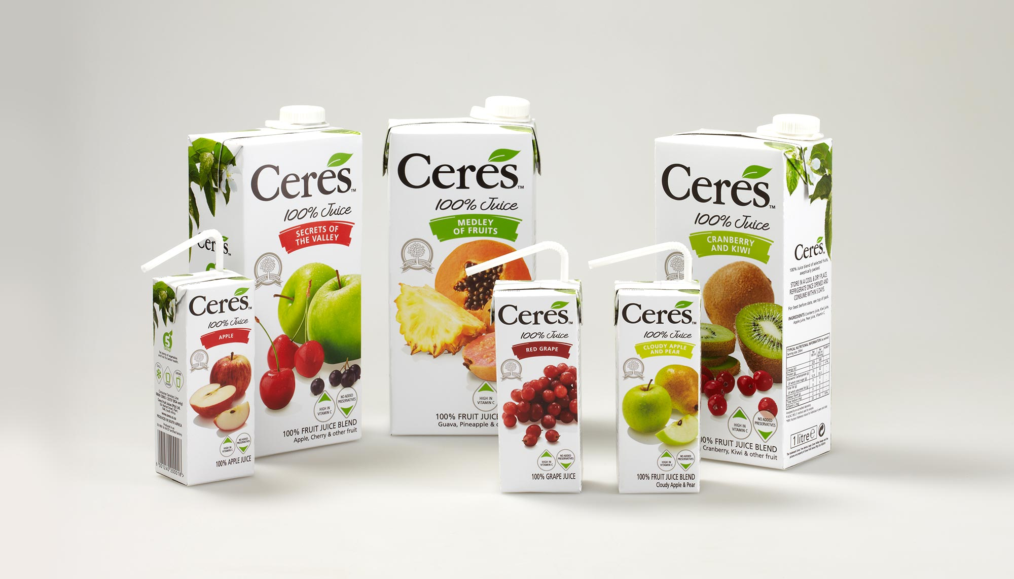 Ceres 100% Fruit Juice Range