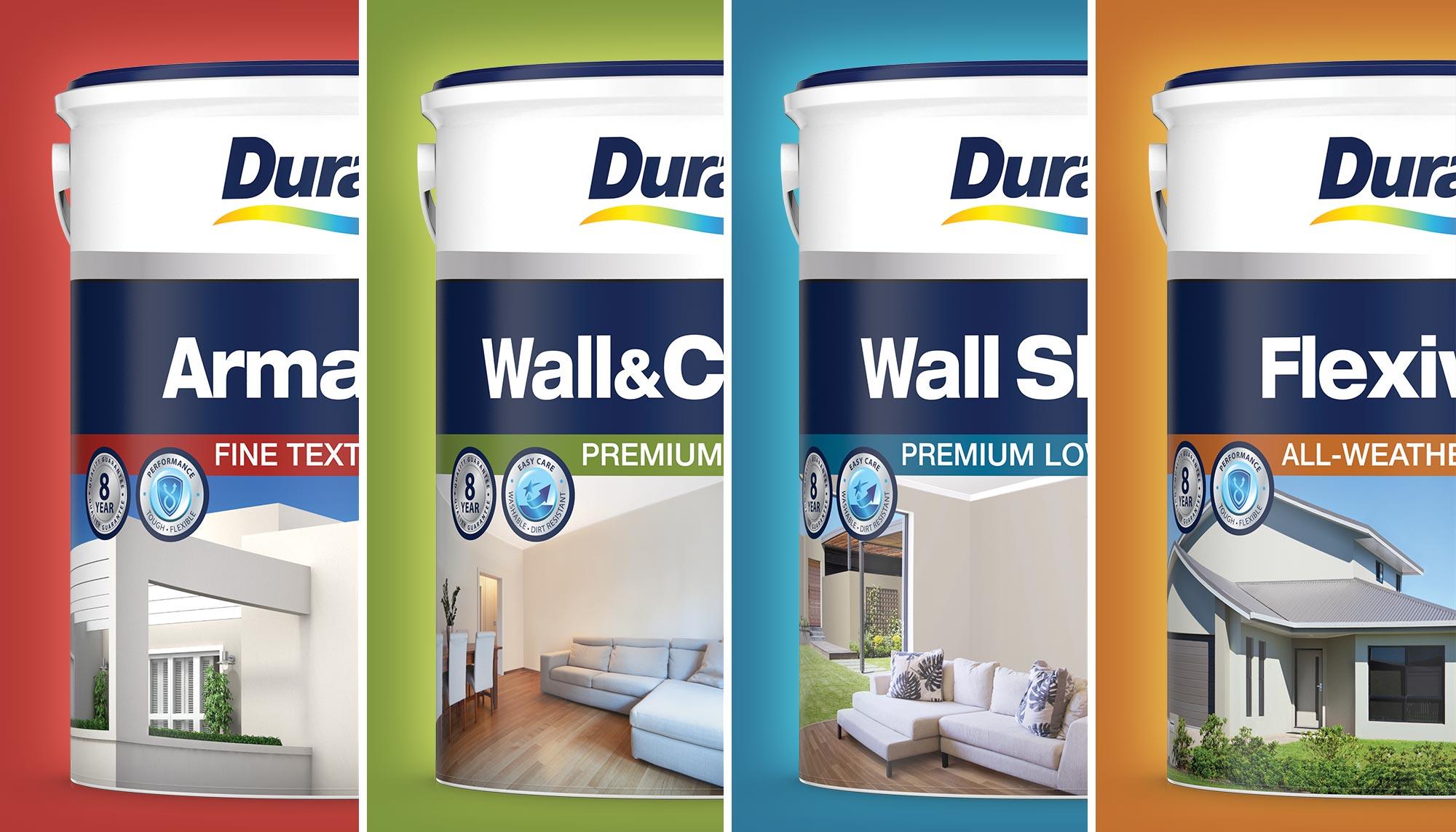 Duram Classic Decorative Paint Range Group Photo