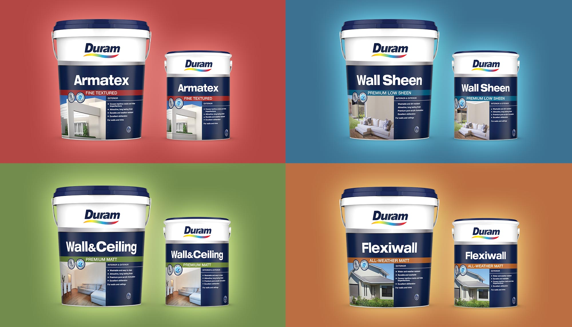 Duram Classic Decorative Range 5L and 20L Group Photo