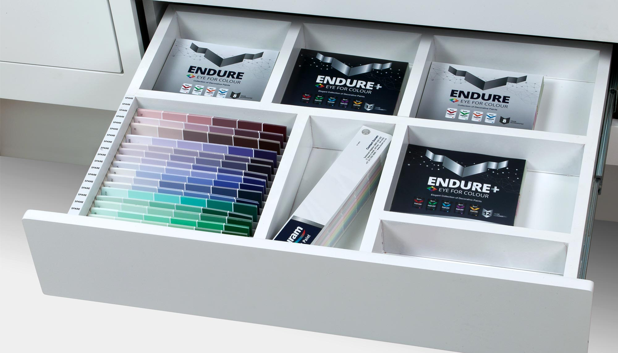 Endure Colour Wall Open Drawer with Brochures
