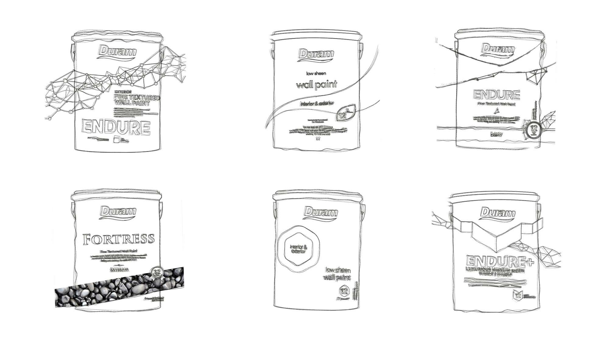 Endure Packaging Concept Drawings, Pack Design