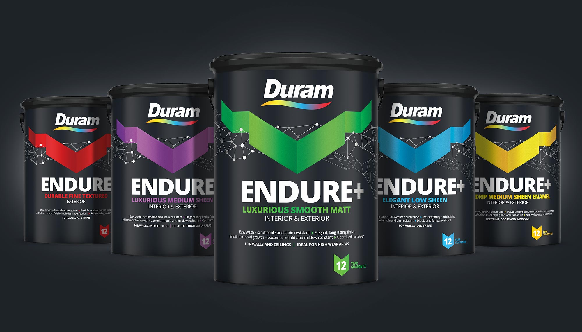 Endure+ Packaging Group Photo, Pack Design, Identity Design