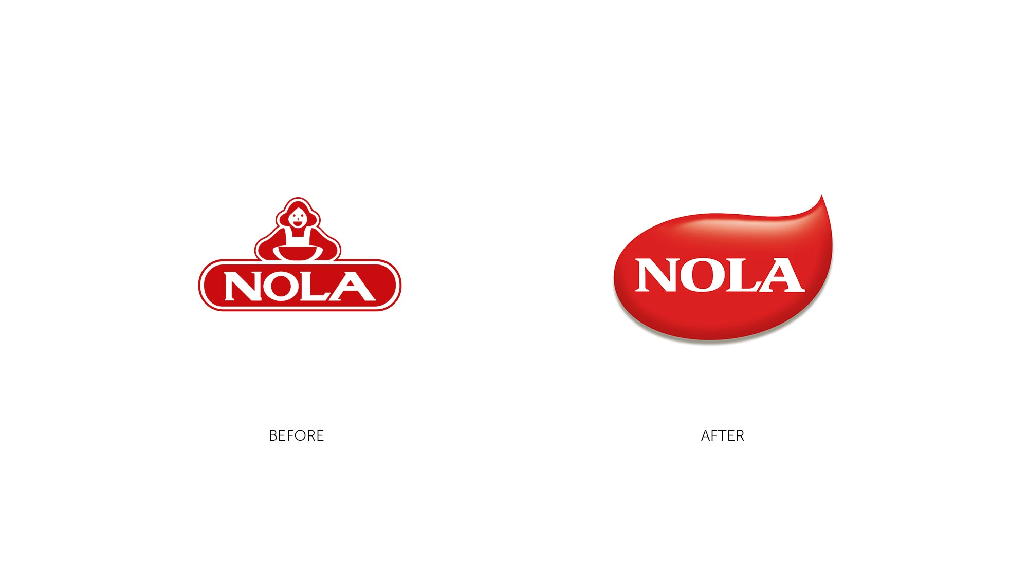 Nola Logo Design before and after